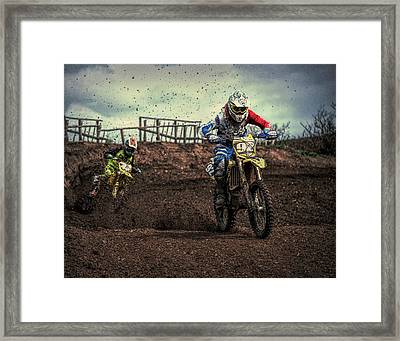 Born To Run Framed Print by Roy Pedersen