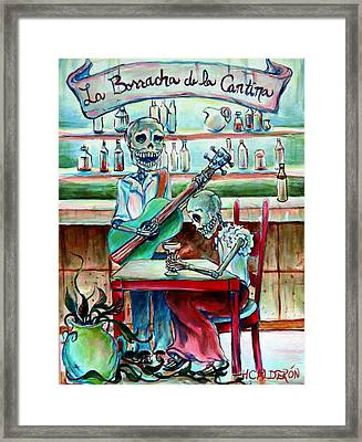 Borracha De La Cantina Framed Print