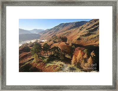 Borrowdale From Castle Crag Framed Print by Bryan Attewell