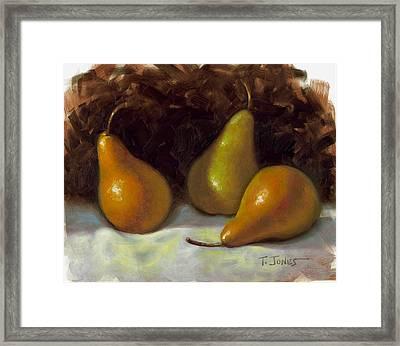 Bosc Pears Framed Print