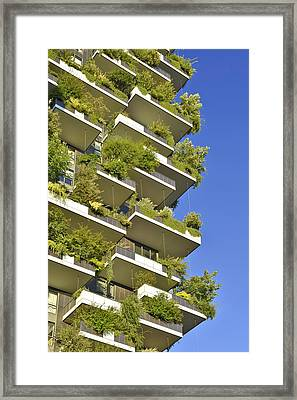 Bosco Verticale Green Facade Framed Print