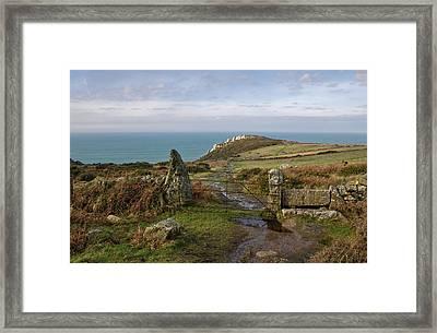 Bosigran In North Cornwall Framed Print by Pete Hemington