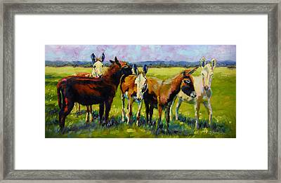 Framed Print featuring the painting Bosom Buddies by Chris Brandley