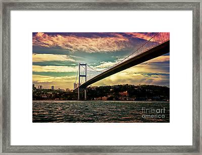 Bosphorous Bridge Framed Print by Nilay Tailor
