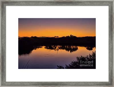 Bosque Del Apache Sunset Framed Print