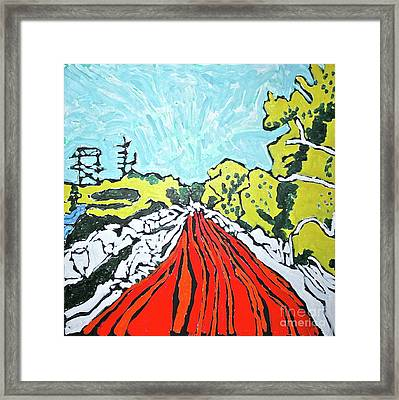 Bosque Road Framed Print by Ray  Petersen