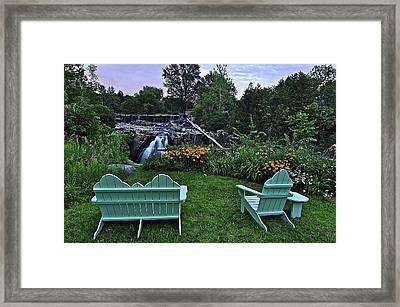 Boquet River Elizabethtown  Framed Print