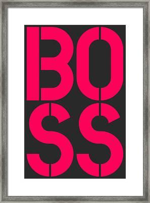 Boss-2 Framed Print