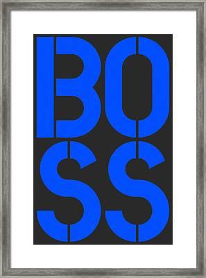 Boss-3 Framed Print