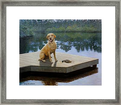 Boss Framed Print by Doug Strickland