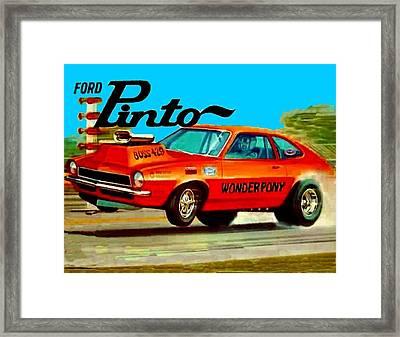 Boss Ford Pinto Wonder Pony Framed Print by Paul Van Scott