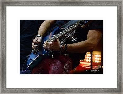 Boss Guitar Player Framed Print by Bob Christopher