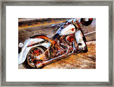 Boss Hog . Harley-davidson .  Painterly . 7d12757 Framed Print
