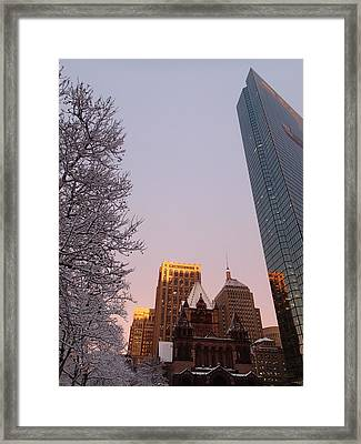 Boston 02/05/16 Framed Print by Robert Nickologianis