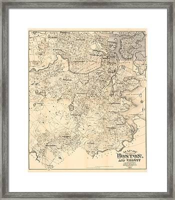 Boston 1907 Framed Print by Mountain Dreams