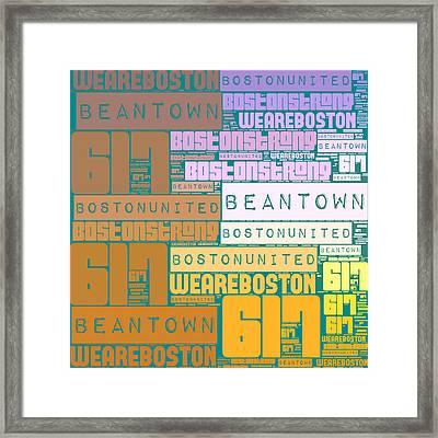 Boston 617 Framed Print