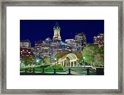Boston Above Christopher Columbus Park Framed Print