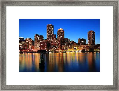 Boston Aglow Framed Print