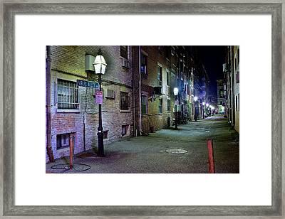 Boston Alleyway Framed Print by Frozen in Time Fine Art Photography