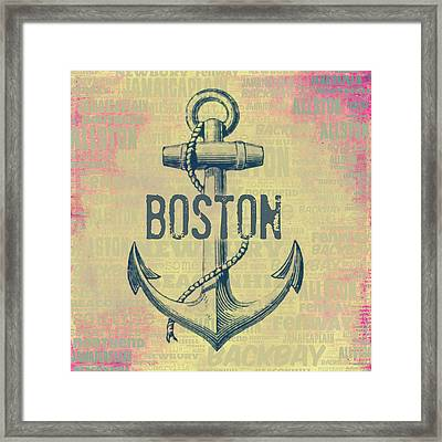 Boston Anchor Center Framed Print by Brandi Fitzgerald
