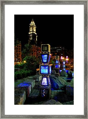 Boston At Night 1 Framed Print by Andrew Dinh