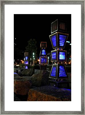 Boston At Night 2 Framed Print by Andrew Dinh