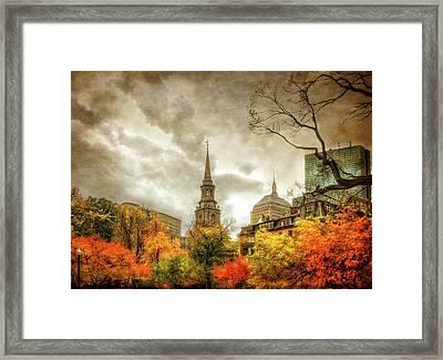 Boston Autumn Splendor Framed Print by Joann Vitali