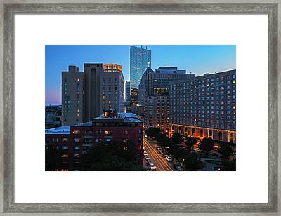 Framed Print featuring the photograph Boston Back Bay Park Plaza Hotel  by Juergen Roth