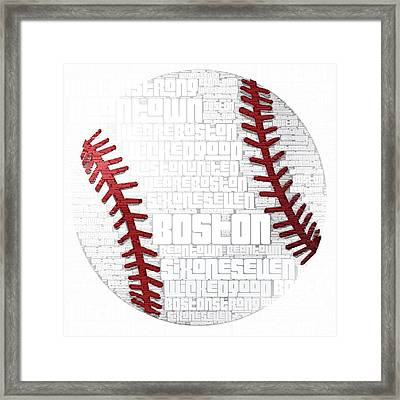 Boston Baseball Framed Print by Brandi Fitzgerald