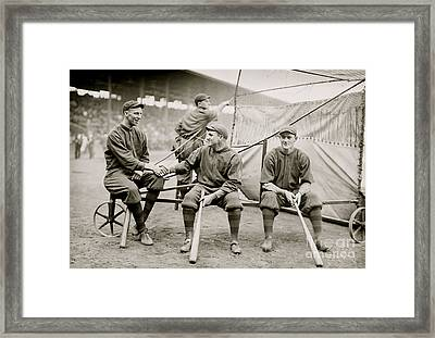 Boston Baseball Players   Gowdy, Tyler, Connolly Framed Print by American School