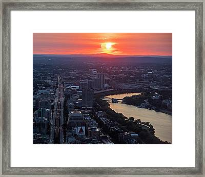 Boston Binary Sun System Boston Ma Framed Print by Toby McGuire