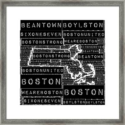 Boston Black And White Framed Print by Brandi Fitzgerald