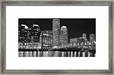 Boston Black And White Framed Print by Frozen in Time Fine Art Photography