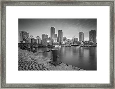 Boston Black And White Framed Print