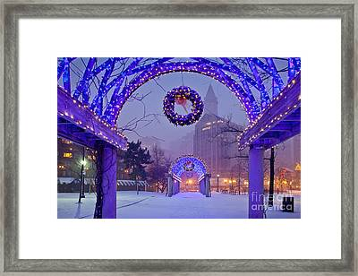 Boston Blue Christmas Framed Print