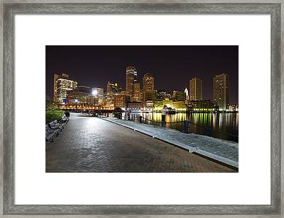 Boston Boardwalk Framed Print