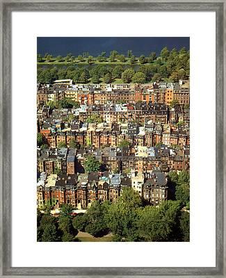 Boston Brownstone Architecture Framed Print