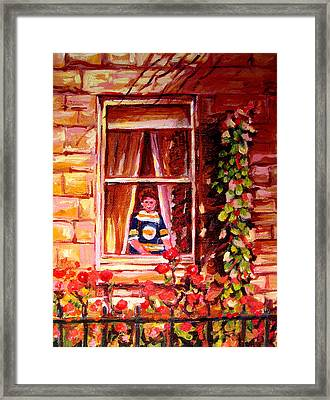 Boston Bruin Fan Framed Print