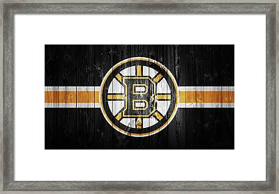 Boston Bruins Barn Door Framed Print