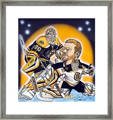 Boston Bruins Goalie Tim Thomas Framed Print by Dave Olsen