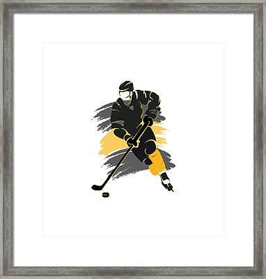 Boston Bruins Player Shirt Framed Print by Joe Hamilton