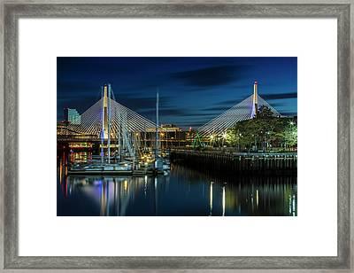 Boston Bunker Hill Bridge Framed Print