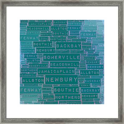 Boston Burbs Framed Print by Brandi Fitzgerald