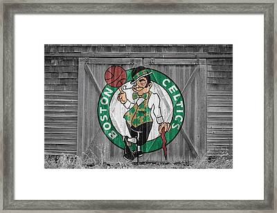 Boston Celtics Barn Doors Framed Print
