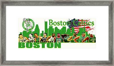 Boston Celtics Framed Print by Don Kuing