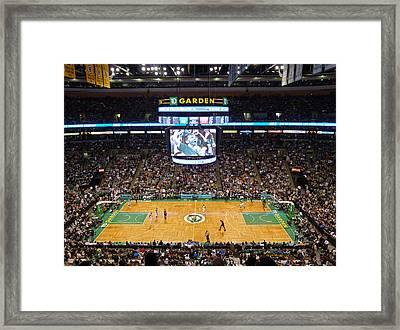 Boston Celtics Framed Print by Juergen Roth