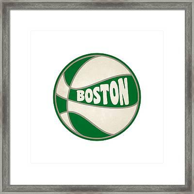 Boston Celtics Retro Shirt Framed Print