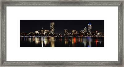 Boston Charles River Panorama 8x24 Ratio Framed Print by Toby McGuire