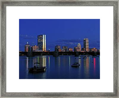 Boston City Lights Framed Print