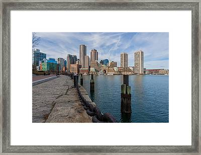 Boston Cityscape From The Seaport District 3 Framed Print